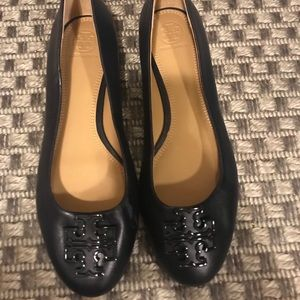 Tory Burch Flats Size 8 Navy Blue